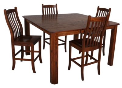 Woodco 5-Piece Counter-Height Mission Dining Set
