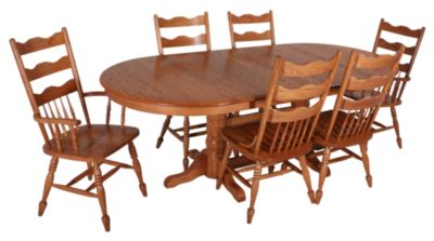 Woodco 7-Piece Solid Oak Dining Set