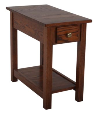 Woodco Loft Solid Wood Chairside Table with Drawer