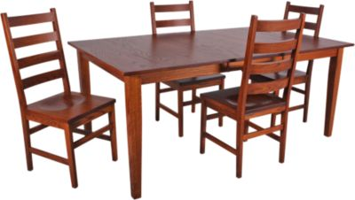 Woodco 5-Piece Solid Oak Dining Set