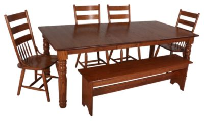 Woodco 6-Piece Solid Oak Dining Set