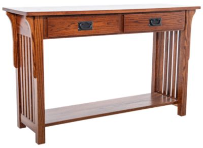 Woodco Mission Sofa Table with drawers