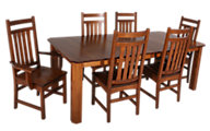 Woodco 7-Piece Quarter Sawn Oak Dining Set