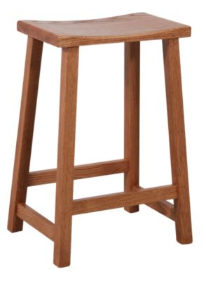 Woodco 1900 Collection Solid Oak Counter Stool