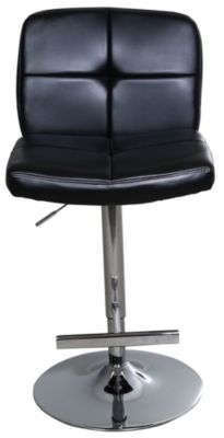 Whalen Llc Harris Gas-Lifted Black Bar Stool