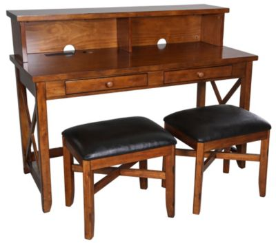 Whalen Llc Fairport Writing Desk with 2 Stools