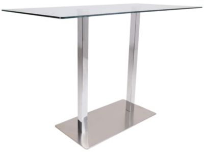 Whalen Llc Left Bank Glass Bar Table