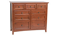 Whittier Wood McKenzie 9-Drawer Dresser