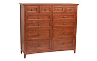 Whittier Wood McKenzie 12-Drawer Dresser