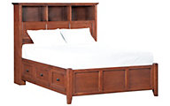 Whittier Wood McKenzie Full Bookcase Storage Bed