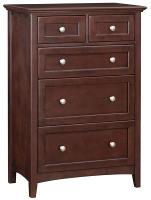 Whittier Wood McKenzie Tall 5-Drawer Chest