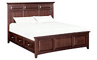 Whittier Wood McKenzie King Mantel Storage Bed