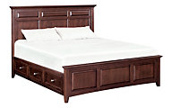 Whittier Wood McKenzie California King Mantel Storage Bed