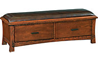 Whittier Wood Prairie City Storage Bench