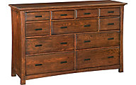 Whittier Wood Prairie City 11-Drawer Dresser