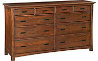 Whittier Wood Prairie City 10-Drawer Master Dresser