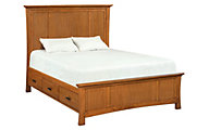 Whittier Wood Prairie City Queen Mantel Storage Bed