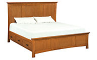 Whittier Wood Prairie City King Mantel Storage Bed