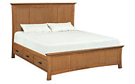 Whittier Wood Prairie City California King Mantel Storage Bed