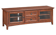 Whittier Wood McKenzie 64-Inch Cherry Media Console