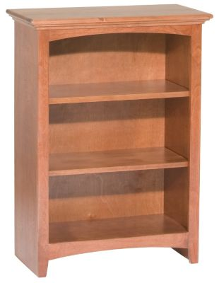 Whittier Wood McKenzie 3-Shelf 26.5-Inch Cherry Bookcase