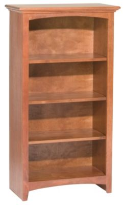 Whittier Wood McKenzie 4-Shelf 26.5-Inch Cherry Bookcase