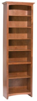 Whittier Wood McKenzie 7-Shelf 26.5-Inch Cherry Bookcase