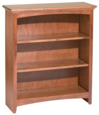 Whittier Wood McKenzie 3-Shelf 32.5-Inch Cherry Bookcase
