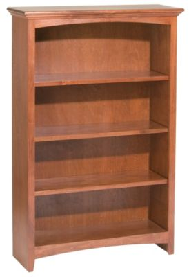 Whittier Wood McKenzie 4-Shelf 32.5-Inch Cherry Bookcase