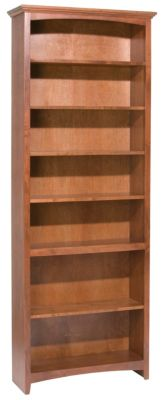 Whittier Wood McKenzie 7-Shelf 32.5-Inch Cherry Bookcase