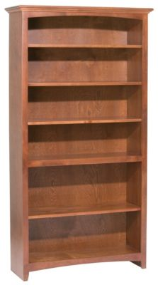 Whittier Wood McKenzie 6-Shelf 38.5-Inch Cherry Bookcase