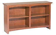 Whittier Wood McKenzie 4-Shelf 50.5-Inch Cherry Bookcase