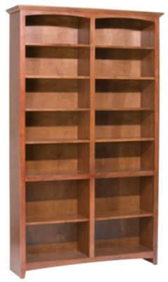 Whittier Wood McKenzie 14-Shelf 50.5-Inch Cherry Bookcase
