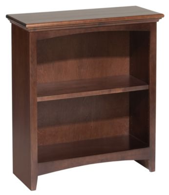 Whittier Wood McKenzie 2-Shelf 26.5-Inch Coffee Bookcase