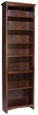 Whittier Wood McKenzie 7-Shelf 26.5-Inch Coffee Bookcase