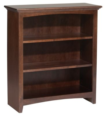 Whittier Wood McKenzie 3-Shelf 32.5-Inch Coffee Bookcase