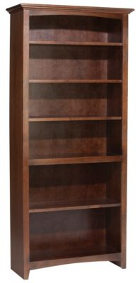 Whittier Wood McKenzie 6-Shelf 32.5-Inch Coffee Bookcase