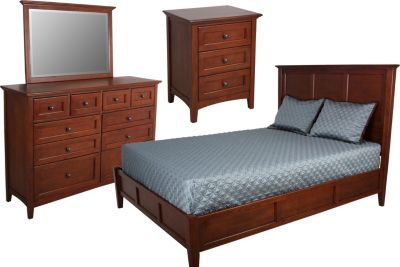 Whittier Wood McKenzie 4-Piece Queen Bedroom Set