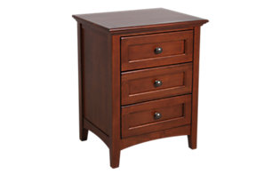 Whittier Wood McKenzie 3-Drawer Nightstand