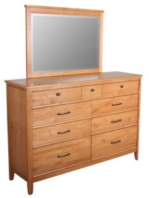 Whittier Wood Pacific Dresser with Mirror