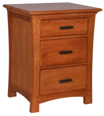 Whittier Wood Prairie City 3-Drawer Nightstand