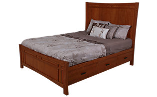 Whittier Wood Prairie City King Panel Storage Bed