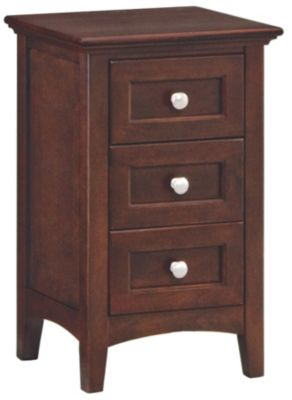 Whittier Wood McKenzie Small 3-Drawer Nightstand
