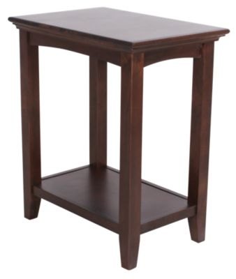 Whittier Wood McKenzie Solid Wood Accent Table