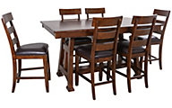 A America Ozark Counter Table & 6 Stools
