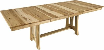 A America Cattail Bungalow Natural Trestle Table