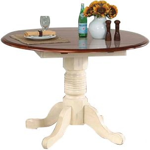 A America British Isles 42 Round Drop Leaf Dining Table Homemakers Furniture