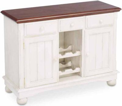 A America British Isles Casual Dining Buffet with Wine Rack