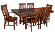A America Laurelhurst 7-Piece Solid Oak Mission Dining Set