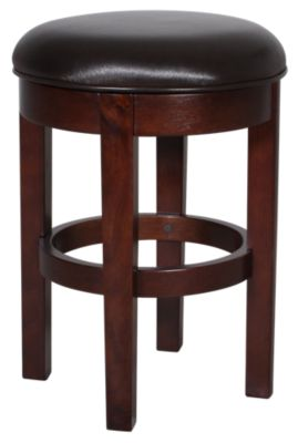 A America Parsons Brown Swivel Counter Stool
